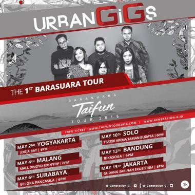 Urban Gigs Barasuara Taifun Tour 2016 6 Cities